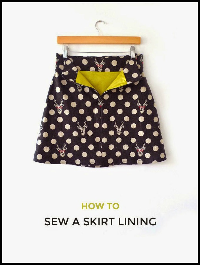 how to sew a skirt lining the daily seam