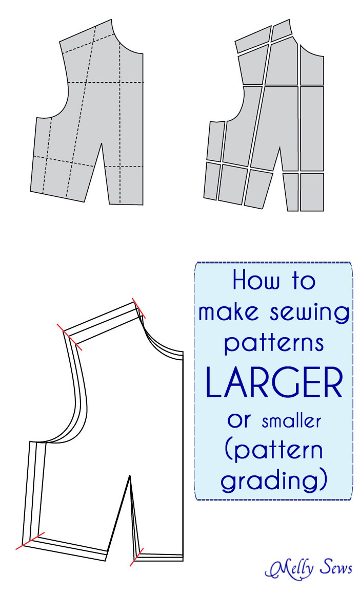 Make A Sewing Pattern Bigger Or Smaller The Daily Seam