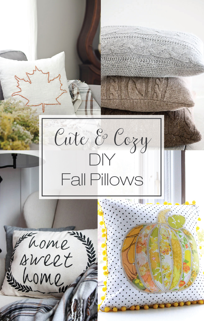 Cute Pillow Ideas To Sew : Cute & Cozy Pillows to Sew for Fall - The Daily Seam