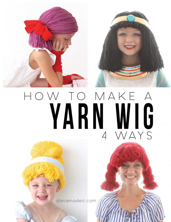 Yarn Wigs for Halloween!