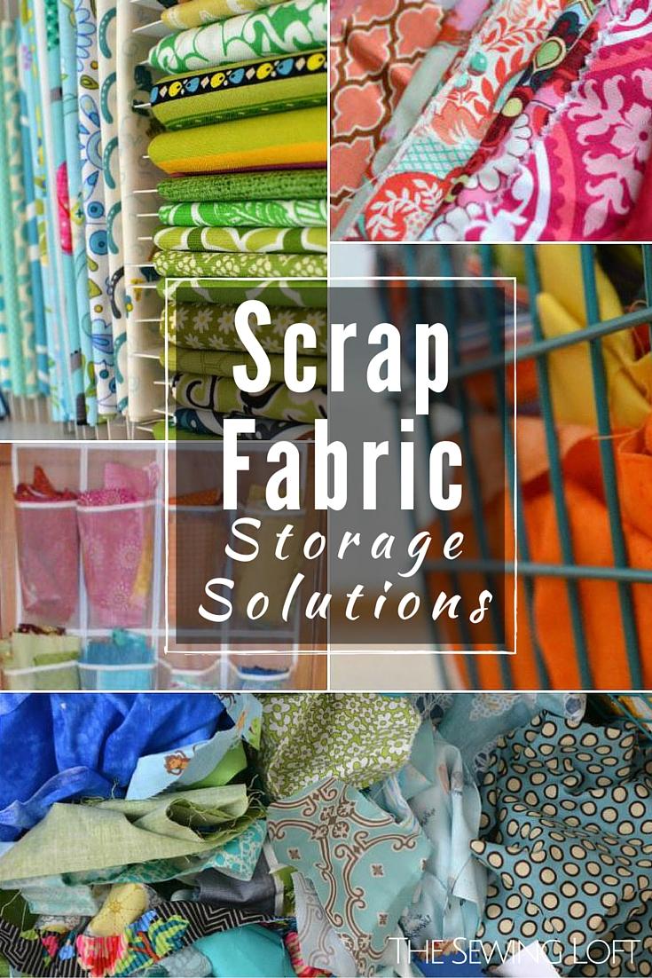 Scrap Fabric Storage Ideas